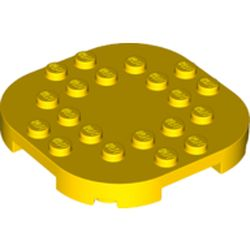 LEGO part 66789 Plate Round Corners 6 x 6 x 2/3 Circle with Reduced Knobs in Bright Yellow/ Yellow