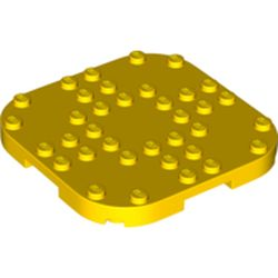LEGO part 66790 Plate Round Corners 8 x 8 x 2/3 Circle with Reduced Knobs in Bright Yellow/ Yellow