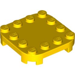 LEGO part 66792 Plate Round Corners 4 x 4 x 2/3 Circle with Reduced Knobs in Bright Yellow/ Yellow