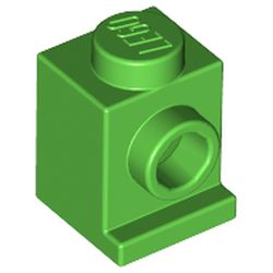 LEGO part 4070 Brick Special 1 x 1 with Headlight and No Slot in Bright Green