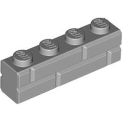 LEGO part 15533 Brick Special 1 x 4 with Masonry Brick Profile in Medium Stone Grey/ Light Bluish Gray