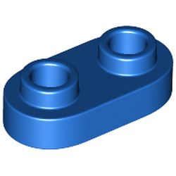 LEGO part 35480 Plate Special 1 x 2 Rounded with 2 Open Studs in Bright Blue/ Blue