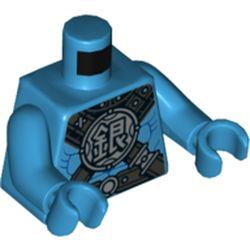 LEGO part 76382 MINI UPPER PART, NO. 5279 in Dark Azure