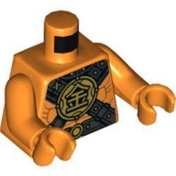 LEGO part 76382 MINI UPPER PART, NO. 5280 in Bright Orange/ Orange