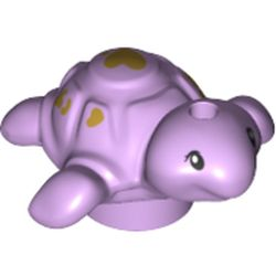 LEGO part 69529 Animal, Turtle, Baby with Olive Green Hearts in Lavender