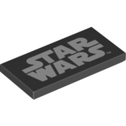 LEGO part 69536 Tile 2 x 4 with Star Wars print in Black