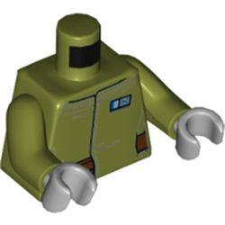LEGO part 76382 MINI UPPER PART, NO. 5295 in Olive Green