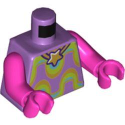 LEGO part 76382 MINI UPPER PART, NO. 5303 in Medium Lavender
