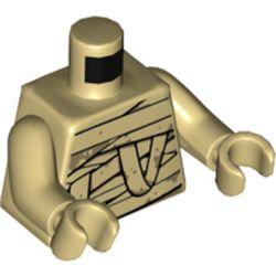 LEGO part 76382 MINI UPPER PART, NO. 5304 in Brick Yellow/ Tan