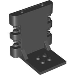 LEGO part 65132 Hinge Bracket 4 x 5 x 5 Locking with 2 Fingers, Two on Each Side, 7 Teeth in Black