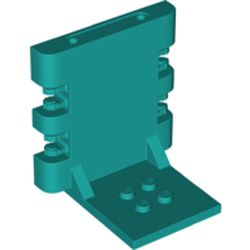 LEGO part 65132 Hinge Bracket 4 x 5 x 5 Locking with 2 Fingers, Two on Each Side, 7 Teeth in Bright Bluish Green/ Dark Turquoise
