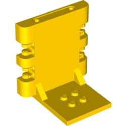LEGO part 65132 Hinge Bracket 4 x 5 x 5 Locking with 2 Fingers, Two on Each Side, 7 Teeth in Bright Yellow/ Yellow