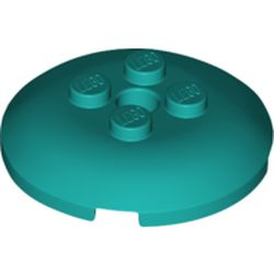 LEGO part 65138 Dish 4 x 4 with 4 Studs in Bright Bluish Green/ Dark Turquoise