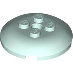 LEGO part 65138 Dish 4 x 4 with 4 Studs in Aqua/ Light Aqua