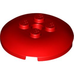 LEGO part 65138 Dish 4 x 4 with 4 Studs in Bright Red/ Red