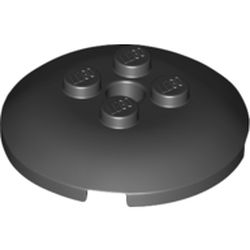 LEGO part 65138 Dish 4 x 4 with 4 Studs in Black