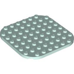 LEGO part 65140 Plate Rounded Corners 8 x 8 in Aqua/ Light Aqua