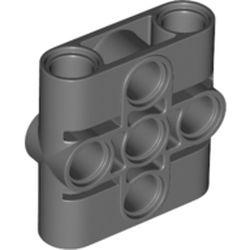 LEGO part 39793 Technic Connector Beam 3 x 3 in Dark Stone Grey / Dark Bluish Gray