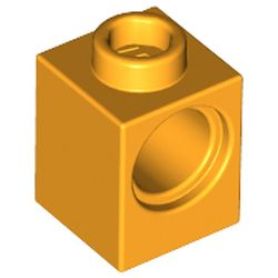 LEGO part 6541 Technic Brick 1 x 1 with Hole in Flame Yellowish Orange/ Bright Light Orange