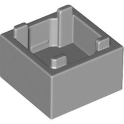 LEGO part 59121 Container Box 2 x 2 x 1 [Plain] in Medium Stone Grey/ Light Bluish Gray