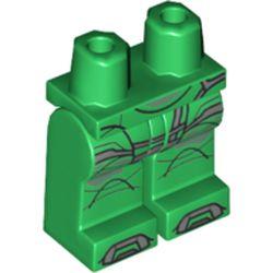 LEGO part 970c00pr1959 MINI LOWER PART, NO. 1959 in Dark Green/ Green