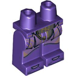 LEGO part 970c00pr1965 MINI LOWER PART, NO. 1965 in Medium Lilac/ Dark Purple