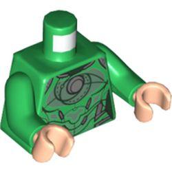 LEGO part 973c06h02pr5311 MINI UPPER PART, NO. 5311 in Dark Green/ Green