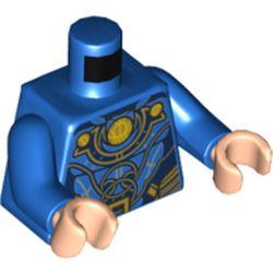 LEGO part 973c28h02pr5312 MINI UPPER PART, NO. 5312 in Bright Blue/ Blue