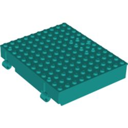LEGO part 72045 Plate Special, Book 10 x 12 with Key Hole in Bright Bluish Green/ Dark Turquoise