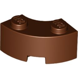 LEGO part 85080 Brick Round Corner 2 x 2 Macaroni with Stud Notch and Reinforced Underside [New Style] in Reddish Brown