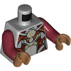 LEGO part 973c10h23pr5318 MINI UPPER PART, NO. 5318 in Medium Stone Grey/ Light Bluish Gray