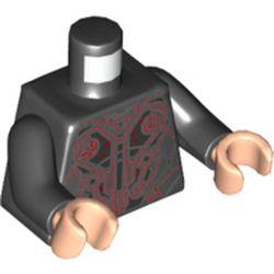LEGO part 973c03h02pr5321 MINI UPPER PART, NO. 5321 in Black