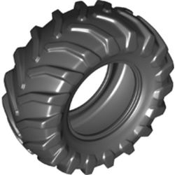 LEGO part 69912 Tyre, Tractor 81 x 35 in Black