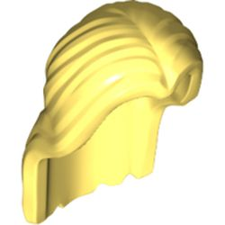 LEGO part 36806 Minifig Hair Long Parted in Center in Cool Yellow/ Bright Light Yellow