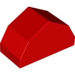 LEGO part 70683 Duplo Brick 2 x 4 x 2, Roof with Angled Sides in Bright Red/ Red