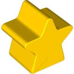 LEGO part 72134 Dupo Brick Special 2 x 2 x 2, Star in Bright Yellow/ Yellow