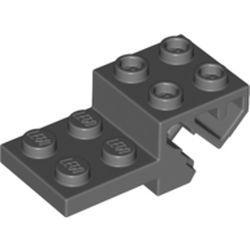 LEGO part 69963 Plate Special 2 x 4 with Steering Bar in Dark Stone Grey / Dark Bluish Gray