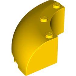 LEGO part 87559 Brick Round Corner 6 x 6 x 2 in Bright Yellow/ Yellow