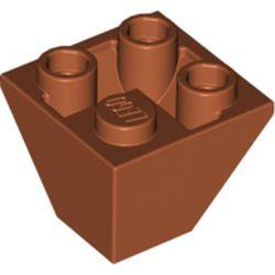 LEGO part 3676 Slope Inverted 45° 2 x 2 Double Convex in Dark Orange