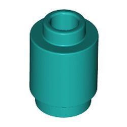 LEGO part 3062 Brick Round 1 x 1 Open Stud in Bright Bluish Green/ Dark Turquoise
