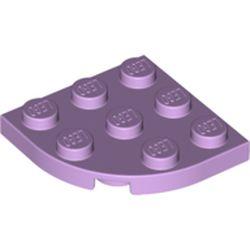 LEGO part 30357 Plate Round Corner 3 x 3 in Lavender