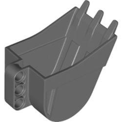 LEGO part 24120 SHOVEL 4X5X7 W/ 4.85 HOLE in Dark Stone Grey / Dark Bluish Gray