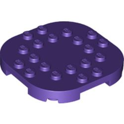 LEGO part 66789 Plate Round Corners 6 x 6 x 2/3 Circle with Reduced Knobs in Medium Lilac/ Dark Purple