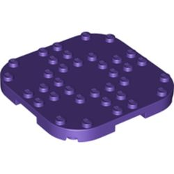 LEGO part 66790 Plate Round Corners 8 x 8 x 2/3 Circle with Reduced Knobs in Medium Lilac/ Dark Purple