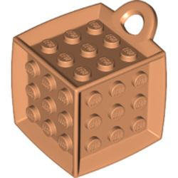 LEGO part 69182 Die - 6 Sided with 3 x 3 Centre Studs, and Ring (DOTS) in Nougat