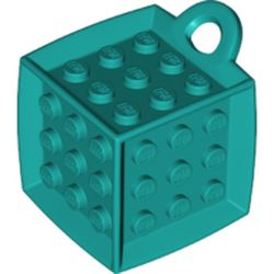 LEGO part 69182 Die - 6 Sided with 3 x 3 Centre Studs, and Ring (DOTS) in Bright Bluish Green/ Dark Turquoise