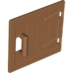 LEGO part 98459 Duplo Door / Lid, Wood Effect in Medium Nougat