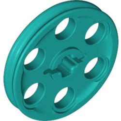 LEGO part 4185 Technic Wedge Belt Wheel [aka Pulley] in Bright Bluish Green/ Dark Turquoise