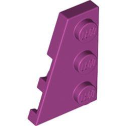 LEGO part 43723 Wedge Plate 3 x 2 Left in Bright Reddish Violet/ Magenta