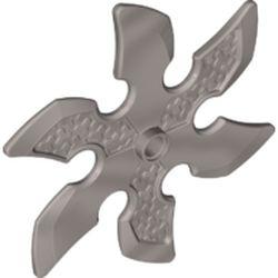 LEGO part  Weapon 6 Blade Ninja Star in Silver Metallic/ Flat Silver